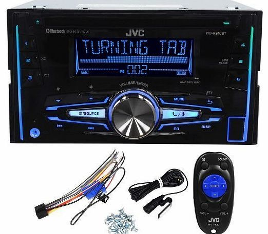 KW-R910BT Double Din Car CD AM/FM Player Receiver w Bluetooth/iPhone/Android by JVC