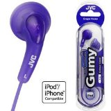 JVC Ukdapper - New JVC Cool and Comfortable Headphones In Ear Gumy Earphones (Grape Violet) HAF140VE iPod/iPhone compatible product image