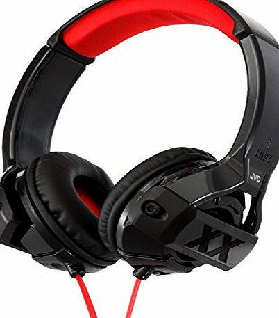JVC Xtreme Xplosives On-Ear Headphones Compatible with iOS/Android Smartphones, Tablets and MP3 Devices - Black