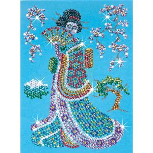 girl sequin art geisha