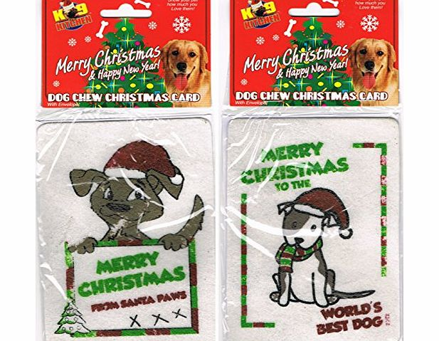 K9 Kitchen Dog Chew Christmas Card with envelope