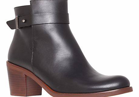 KG by Kurt Geiger Sasha Leather Ankle Boots, Black