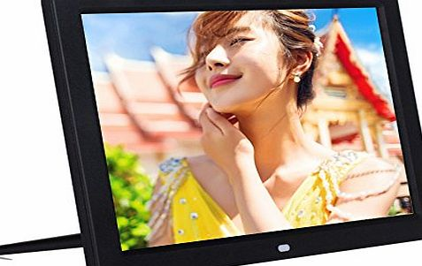 Kglobal 12`` 1080P HD LED Digital Photo Frame(16:9) - Multifunction Digital Picture Display 1280*800 with Max 32GB Storage(Black)