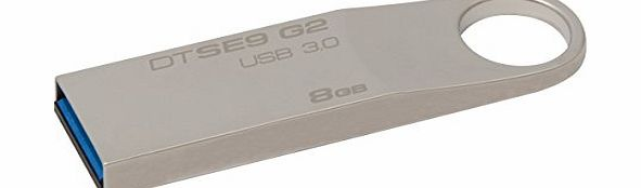 Kingston Technology DataTraveler SE9 G2 8 GB USB 3.0 Flash Drive product image
