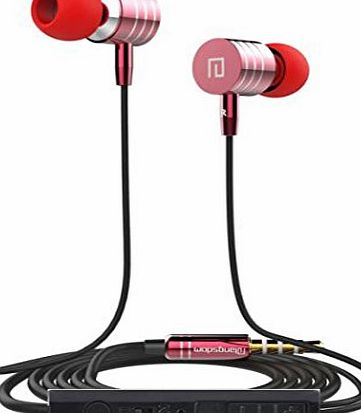 Kingwo Earphone - Kingewo Universal 3.5mm In-Ear Stereo Earbuds Earphone With Mic For Cell Phone(Red )