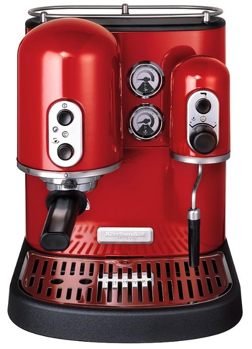 Kitchenaid red artisan espresso maker review compare for Espresso machine kitchenaid