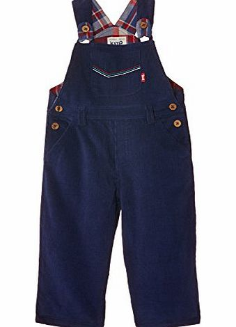 Kite Baby Boys Cord Dungarees, Blue (Navy), 18-24 Months