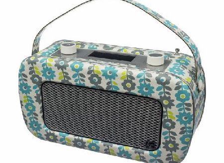 Jive Retro Portable DAB Radio with Dual Alarm Clock and Carry Handle - Blue