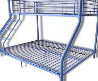 New metal triple children sleeper bunk bed frame in purple no mattress - Metal Bunk Beds Reviews