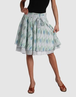mid-length/knee-length skirt
