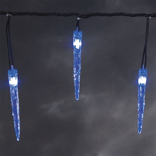 konstsmide led acrylic icicle 90 blue lights christmas light. Black Bedroom Furniture Sets. Home Design Ideas