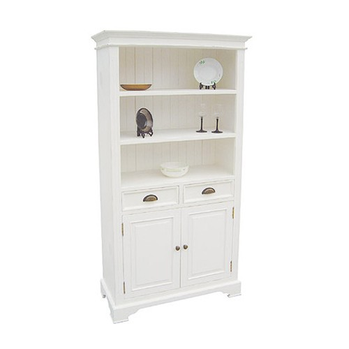 Book Cases Kristina White 2 Door 2 Drawer Bookcase 916 411
