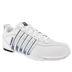 K*Swiss Male Arvee Iii Leather Upper Fashion Trainers in White and Navy