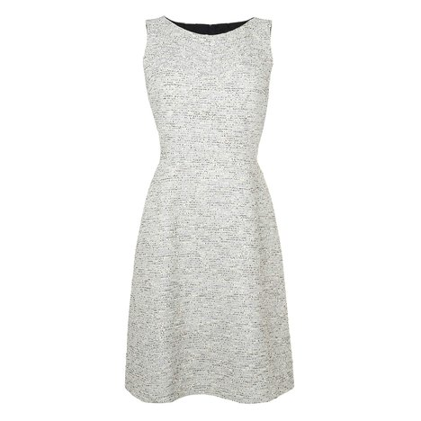 Alodie Tweed Dress Colour Antique White