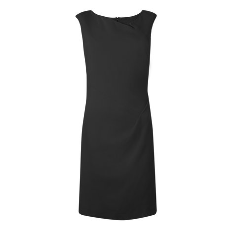 Dee Wool Hip Pleat Dress Colour Black