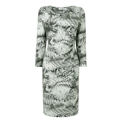 Dijon Snake Print Jersey Dress Colour Black and