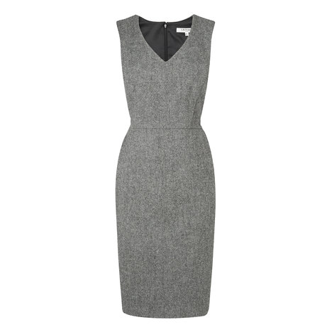 Freida Wool V-Neck Dress Colour Pewter