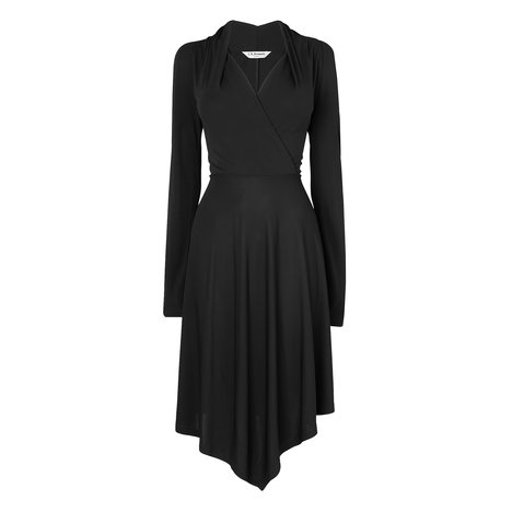Lory Jersey Wrap Dress Colour Black