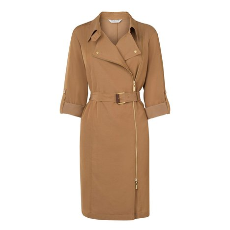 Marva Trench Dress Colour Tan