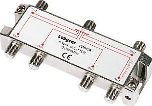 Labgear, 1228[^]48074 Professional Splitter 6-Way 48074
