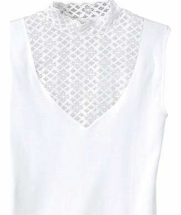 Lace Panel Sleeveless Top