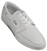 Lacoste Footwear Lacoste Dreyfus SPM White Leather Boat Shoes