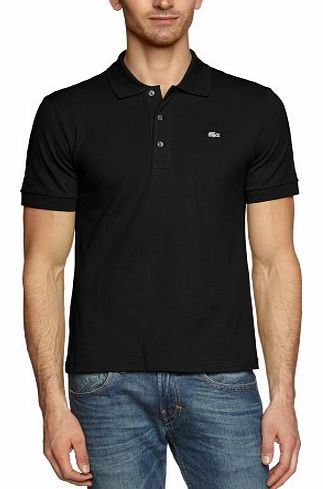 Lacoste mens short sleeve stretch polo shirt black for Lacoste size 4 polo shirt