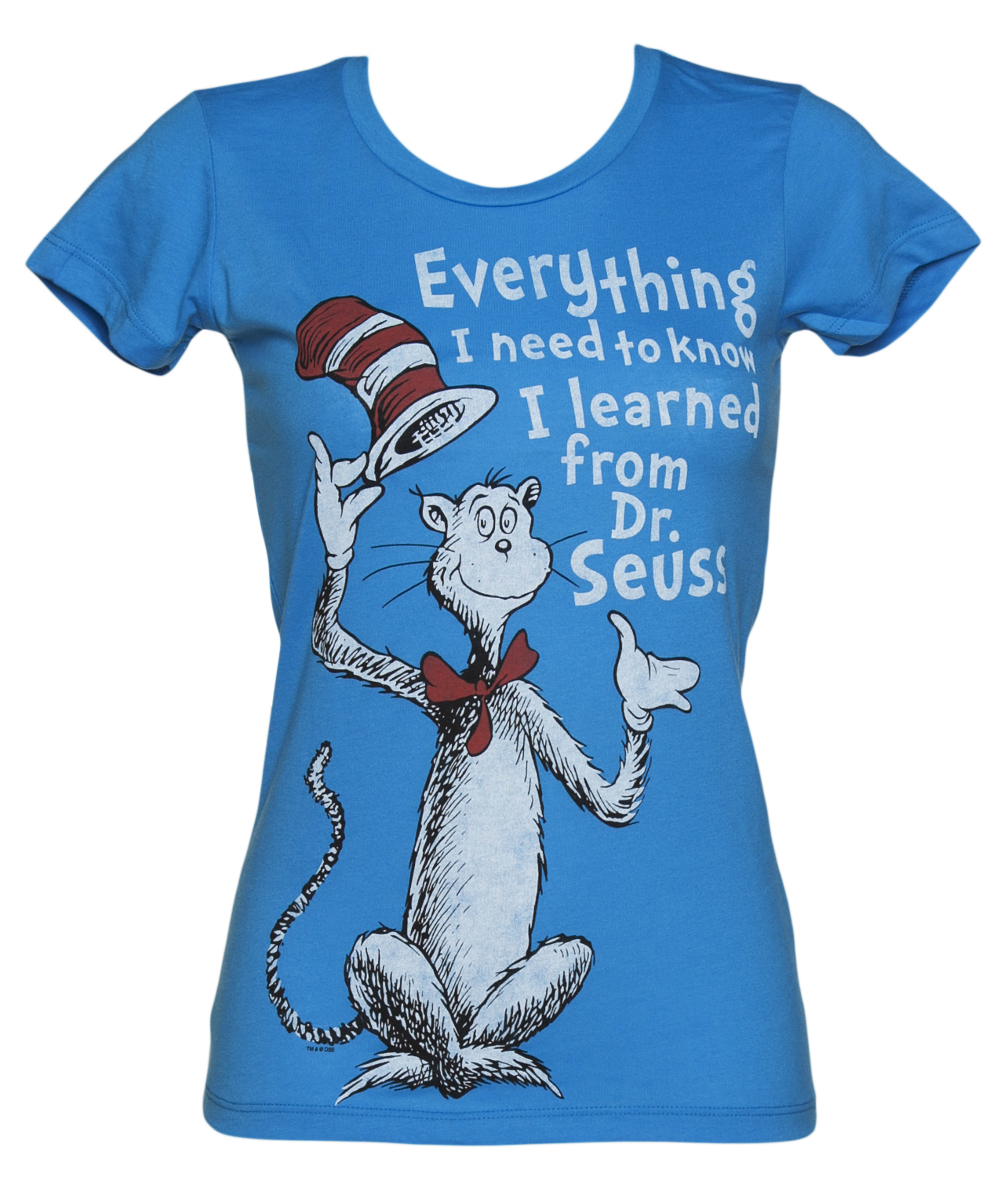 Ladies Aqua Everything I Need To Know Dr Seuss product image