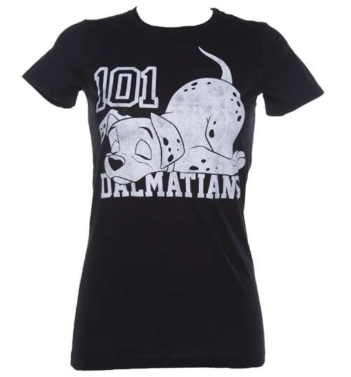 Ladies Black 101 Dalmations T-Shirt product image