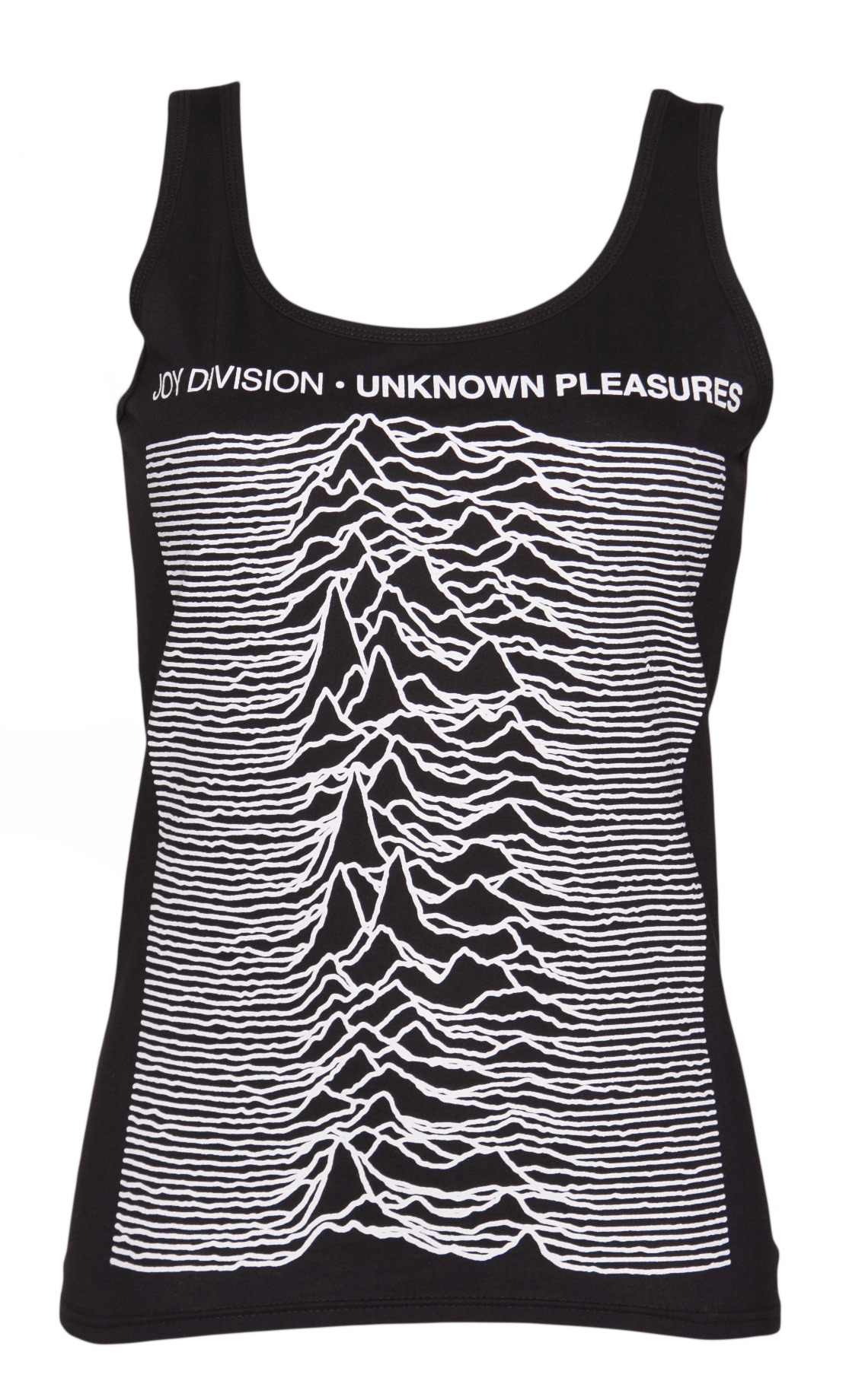 Ladies Black Unknown Pleasures Joy Division Vest product image