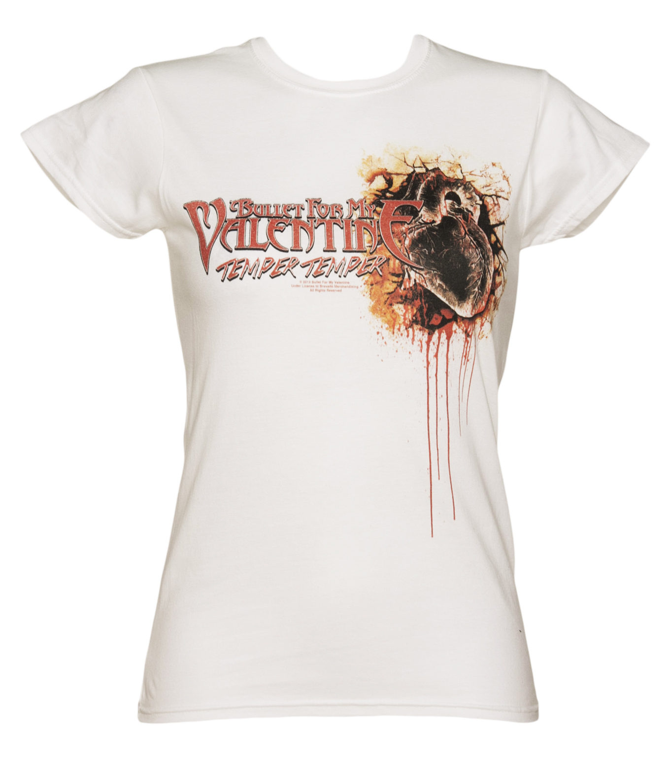 Ladies Bullet For My Valentine Dead Heart T-Shirt product image