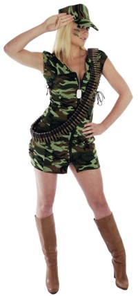 ladies Costume: Soldier Girl (Size X-Small)
