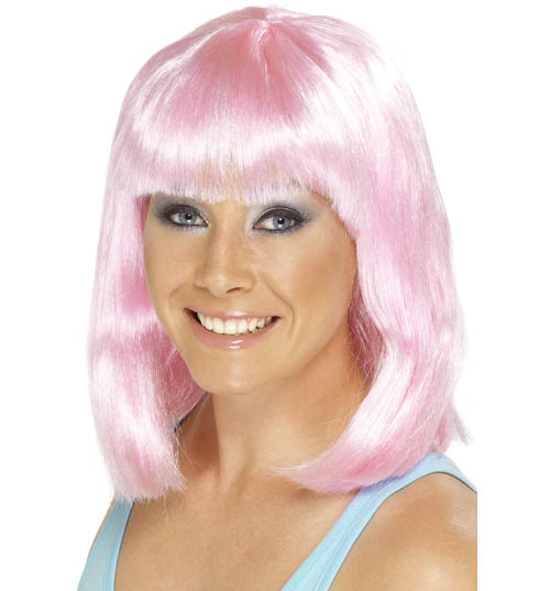 Ladies Pink Retro Wig product image
