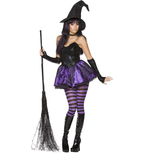 ladies Rebel Toons Wicked Witch Fancy Dress product image