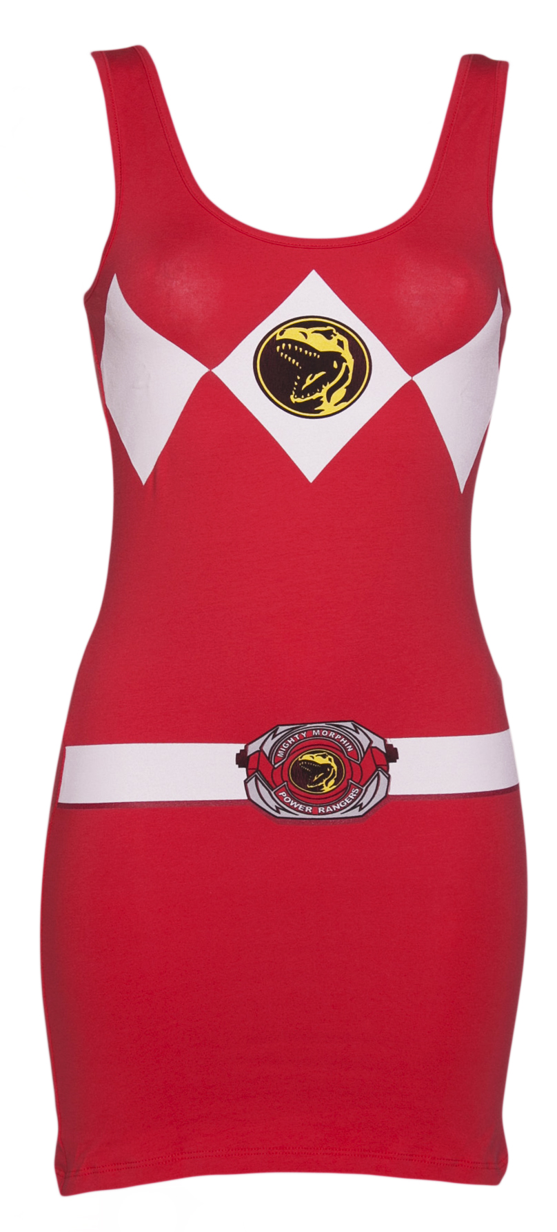 Ladies Red Mighty Morphin Power Rangers Costume product image