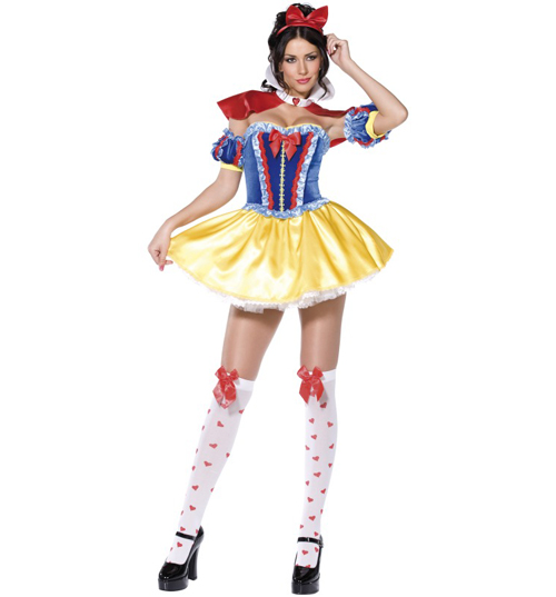Ladies Snow White Fancy Dress Costume product image