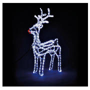 Large light up standing reindeer
