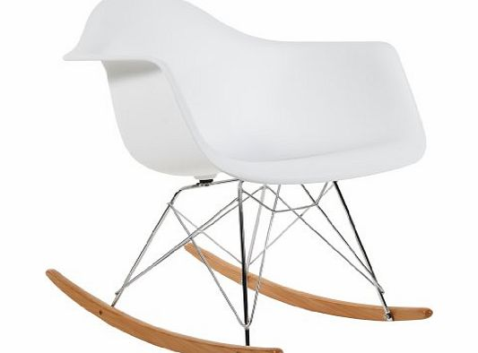 Lavin Lifestyle Charles Eames RAR Plastic Rocking Chair - White product image
