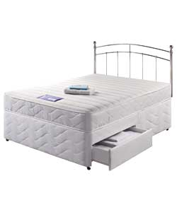 Layezee memory double divan 2 drawer for 2 drawer double divan bed