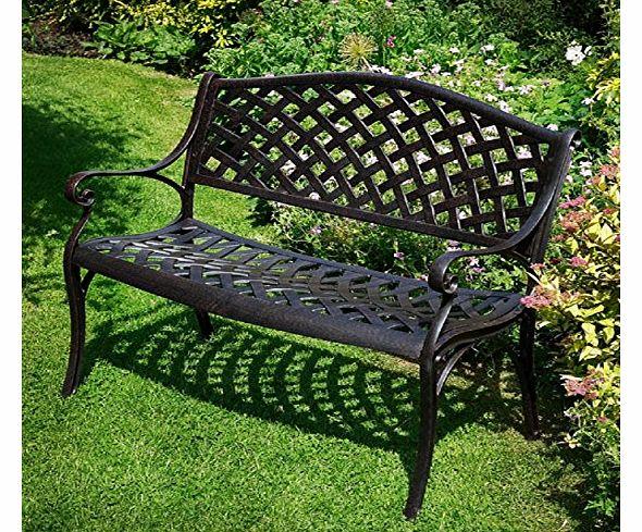 Lazy Susan Furniture Jasmine Metal Garden Bench Antique Bronze Review Compare Prices Buy
