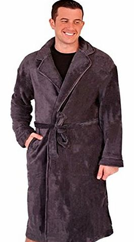 Mens Luxury Dressing Gown + Belt Gents Fleece Bath Robes Gents Robe Housecoat Xmas Gift Present Size S - XL