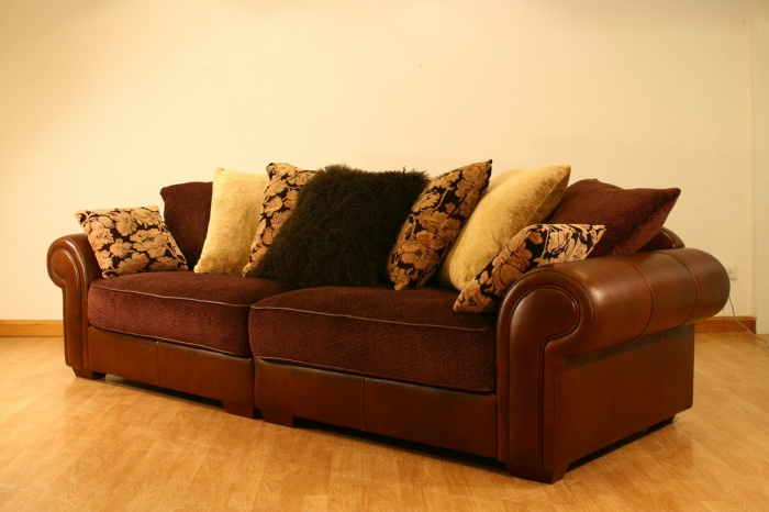 Leather And Fabric Sofa As Well Mix Leather And Fabric Sofa