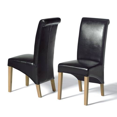 Dining table black dining table leather chairs for Black leather dining room chairs