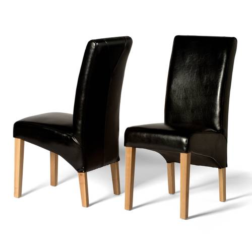 Leather Dining Chairs Olivia Black Leather Dining Chair X2 Review Compare