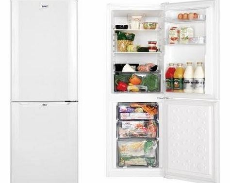 LEC TF50152W Freestanding Fridge Freezer in White frost free energy rating A product image