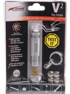 V Squared Key Finder Silver in TEST IT blister pack