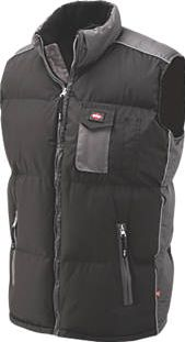Lee Cooper, 1228[^]7987F Padded Body Warmer Black XX Large 7987F