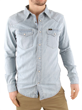 Lee Stone Wash Slim Western Denim Shirt product image