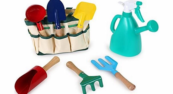 Legler Childrens Gardening Set with sturdy carry bag and tools product image