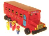 Legler Red Wooden School Bus with Children
